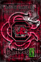 South Carolina Game Cocks Poster, South Carolina Print, Gamecocks gift, SC Game Cocks Cave Picture