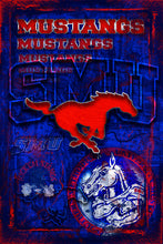 Southern Methodist Mustangs Poster, Souther Methodist Mustangs Print, Mustangs Man Cave Picture