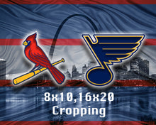 St. Louis Sports Teams Poster,  St. Louis Cardinals St. Louis Blues Poster