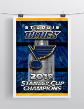 St. Louis Blues 2019 Stanley Cup Championship NHL Hockey Poster, Blues Hockey Print