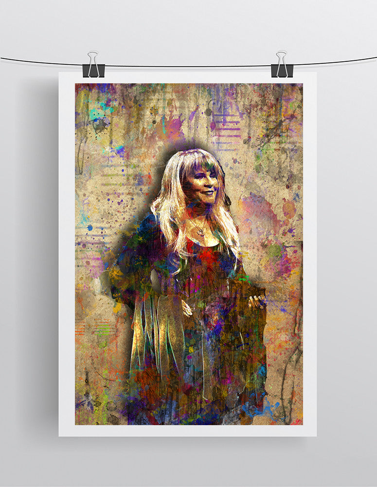 Stevie Nicks Poster, Stevie Nicks Gift, Fleetwood Mac Tribute Fine Art