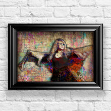 Stevie Nicks Poster, Stevie Nicks of Fleetwood Mac Gift, Stevie Nicks Tribute Fine Art