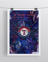 Texas Rangers Poster, Texas Rangers Artwork Gift, Rangers Layered Man Cave Art