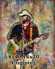 Toby Keith Poster, Toby Keith Portrait Gift, Toby Keith Colorful Layered Tribute Fine Art
