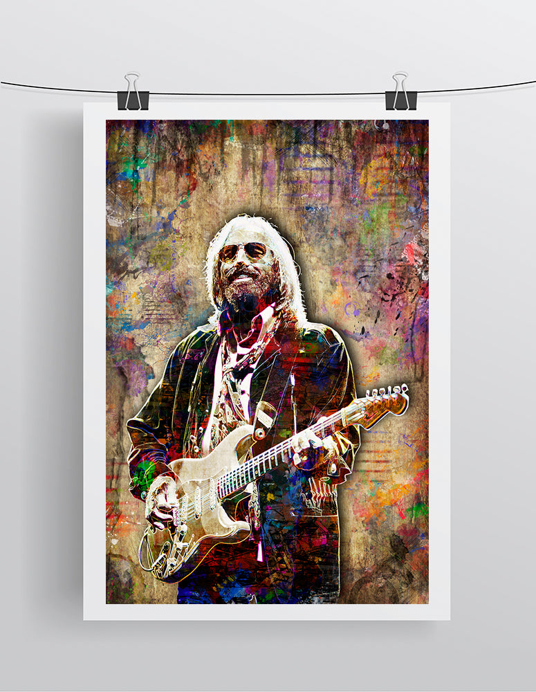Tom Petty Memorial Poster 2, Tom Petty Gift, Tom Petty Tribute Fine Art