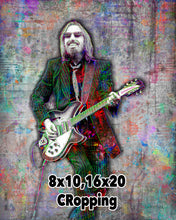 Tom Petty Pop Art Memorial 1950-2017 Poster, Tom Petty Portrait Tribute Fine Art