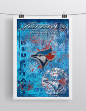 Toronto Blue Jays Poster, Toronto Blue Jays Artwork Gift, Blue Jays Layered Man Cave Art