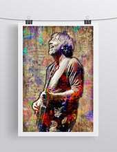 Trey Anastasio Poster, Trey Anastasio of Phish Gift, Phish Colorful Layered Tribute Fine Art