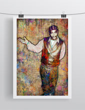 Tupac Poster, Tupac Portrait Gift, Tupac Memorial Colorful Layered Tribute Fine Pop Art