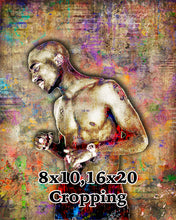 Tupac Poster, Tupac Close Up Portrait Gift, Tupac Memorial 2 Colorful Layered Tribute Fine Pop Art
