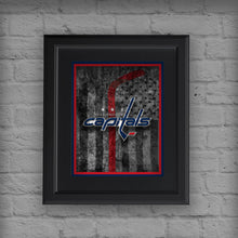 Washington Capitals Hockey Flag Poster, Washington Capitals Gift, Caps Flag, Washington Capitals Poster