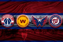 Washington Sports Teams Poster, Washington Nationals, Washington Capitals, Washington Football Team, Washington Wizards