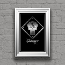 Chicago White Sox Punisher Poster, White Sox Punisher Logo Gift, Chicago White Sox Layered Man Cave Art