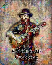 Zac Brown Poster, Zac Brown Band Gift, Zac Brown Colorful Layered Tribute Fine Art