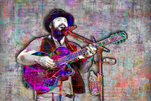 Zac Brown Poster, Zac Brown Band Landscape Gift, Zac Brown Colorful Layered Tribute Fine Art