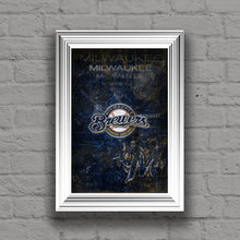 Milwaukee Brewers Poster, Milwaukee Brewers Artwork Gift, Brewers Layered Man Cave Art