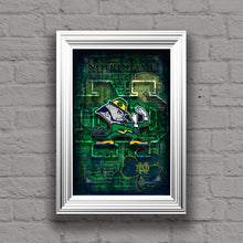 Notre Dame Poster, Notre Dame Fighting Irish Print, ND gift, Notre Dame Man Cave Picture