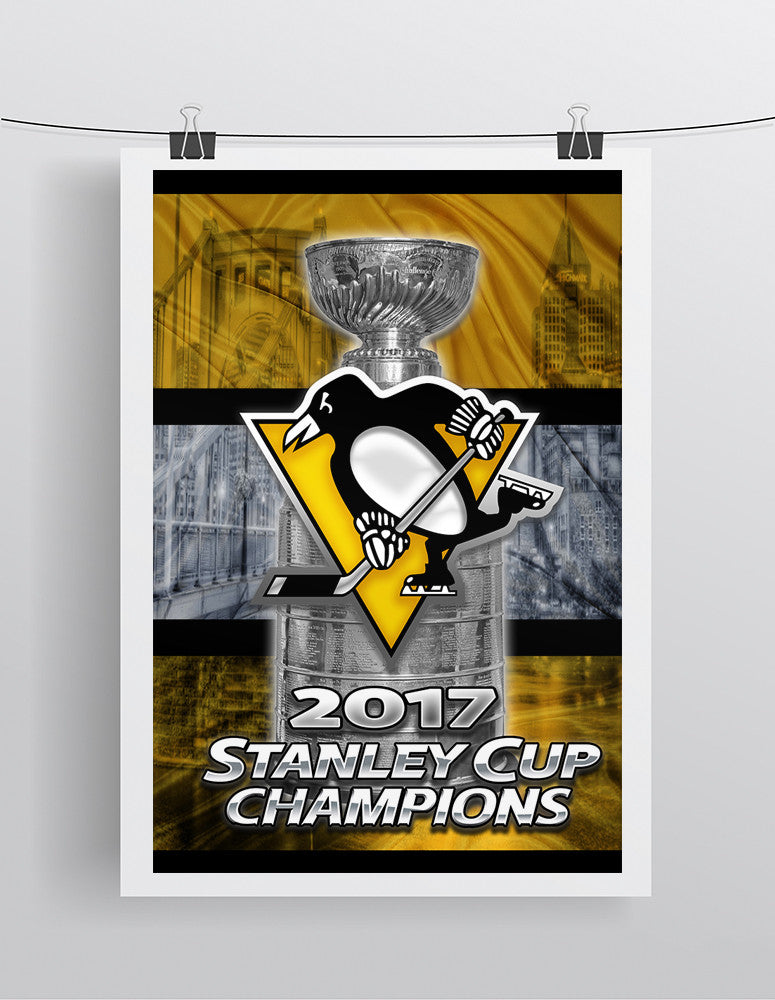 Pittsburgh Penguins 2017 Stanley Cup Championship Poster, Pittsburgh Penguins Hockey Gift, Pens Art, Penguins