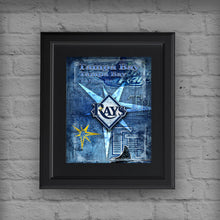Tampa Bay Rays Poster, Tampa Bay Rays Artwork Gift, Rays Layered Man Cave Art