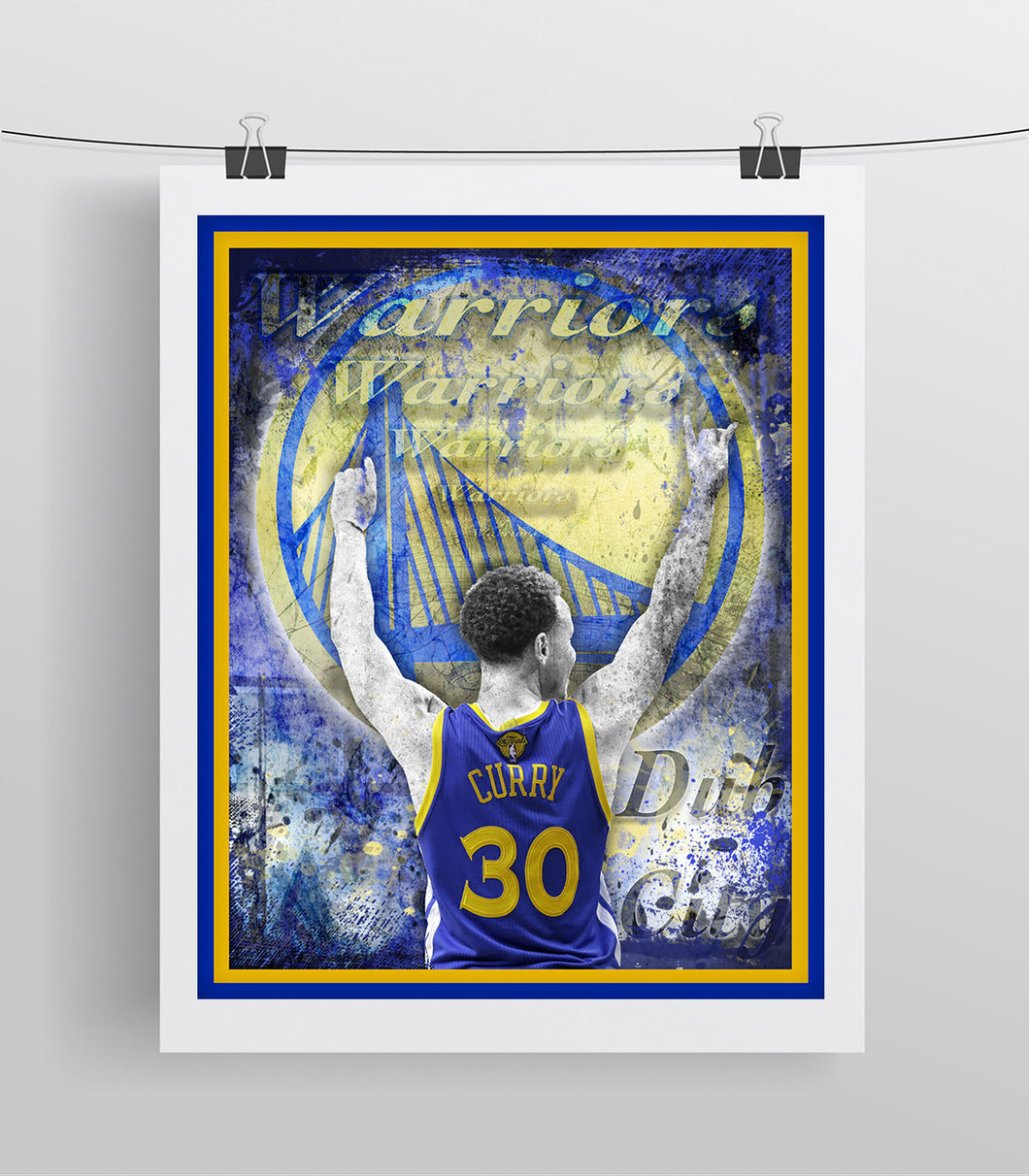 Golden State Warriors Steph Curry Poster, Warriors Print, Warriors Art