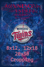 Minnesotta Twins Poster, Minnesota Twins Artwork Gift, Twins Layered Man Cave Art