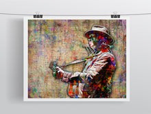 Neil Young Poster, Neil Young Gift, Neil Young Tribute Fine Art
