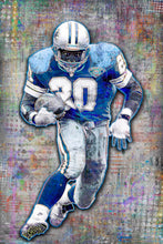 Barry Sanders Detroit Lions Tribute, Lions Football Poster