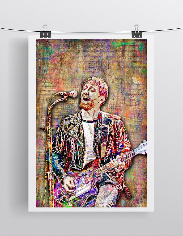 Dan Auerbach Poster, Black Keys Gift, The Black Keys Tribute Fine Art
