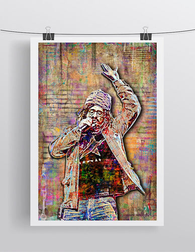 Adam Durtiz of Counting Crows Poster, Counting Crows Tribute Fine Art