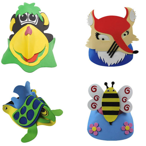 Animal Mask Birthday Party Supplies EVA Foam Headdress Cartoon Kids children Party Costume Zoo Jungle Mask Halloween Decoration