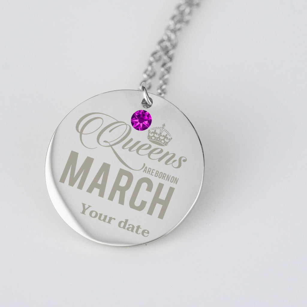March Birthstone Dates Birthday Jewelry Personalised Birthday Gifts
