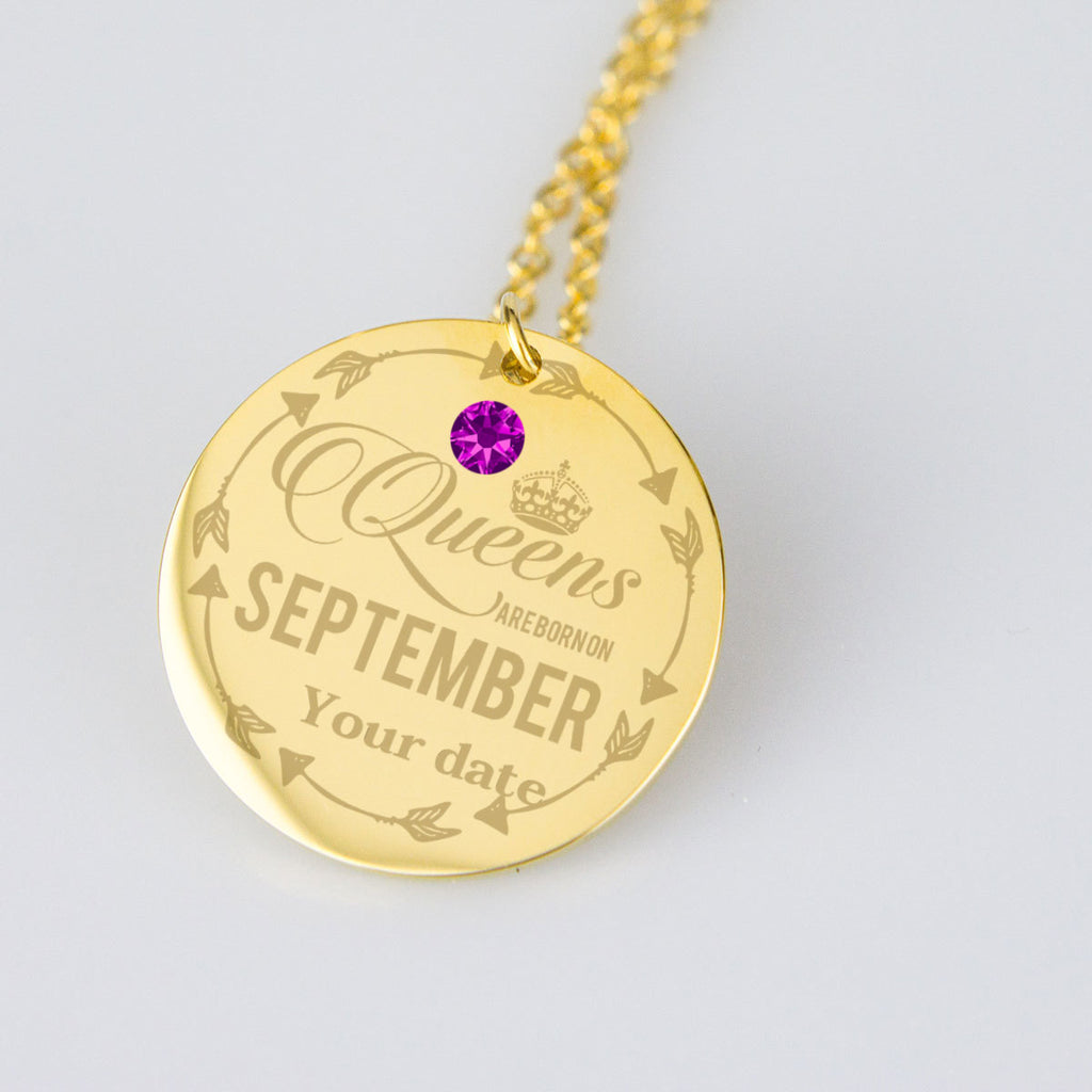 September Birthstone Dates Jewelry Personalised Birthday Gifts