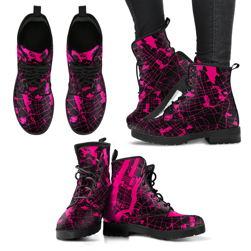 Gotham Boots  Women's Leather Pink Boots