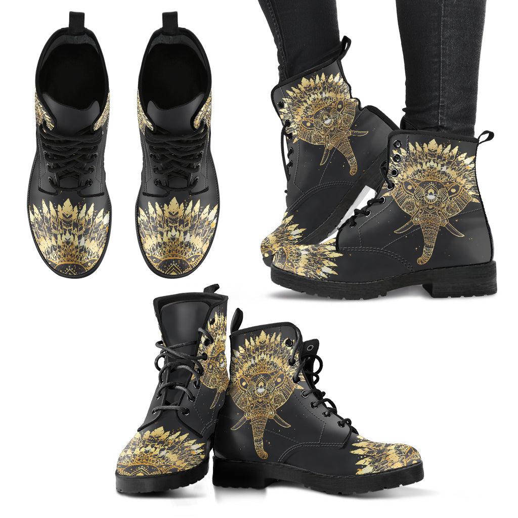 Elephant Boots Elephant with Feather Women's Leather Boots