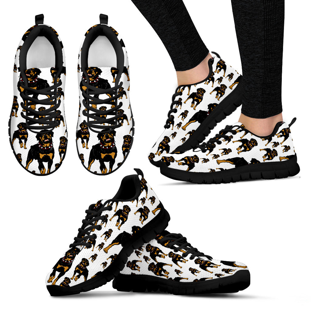 Rottweilers Shoes Dog Women Sneakers Black