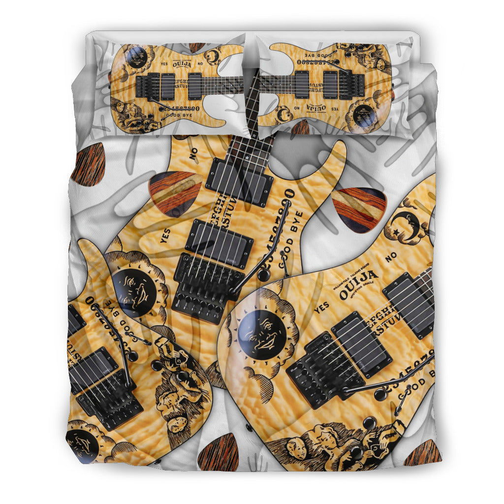 Paranormal Guitar Duvet Cover Bedding Set for Lovers of Music & Guitars