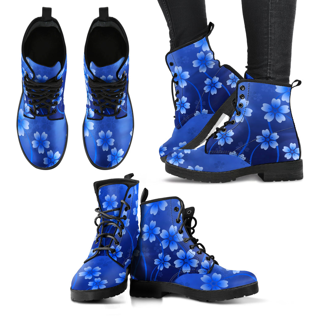Blue Combat Boots Casual Boots
