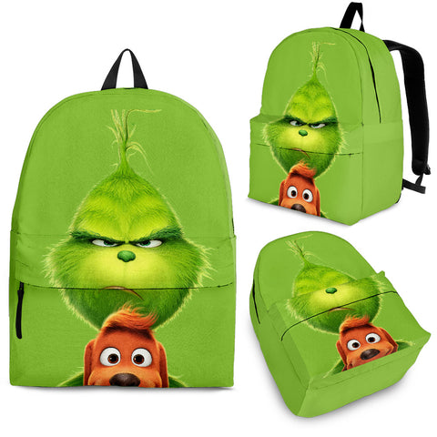 Grinch Backpack Outdoor Backpack Bags Day Backpacks