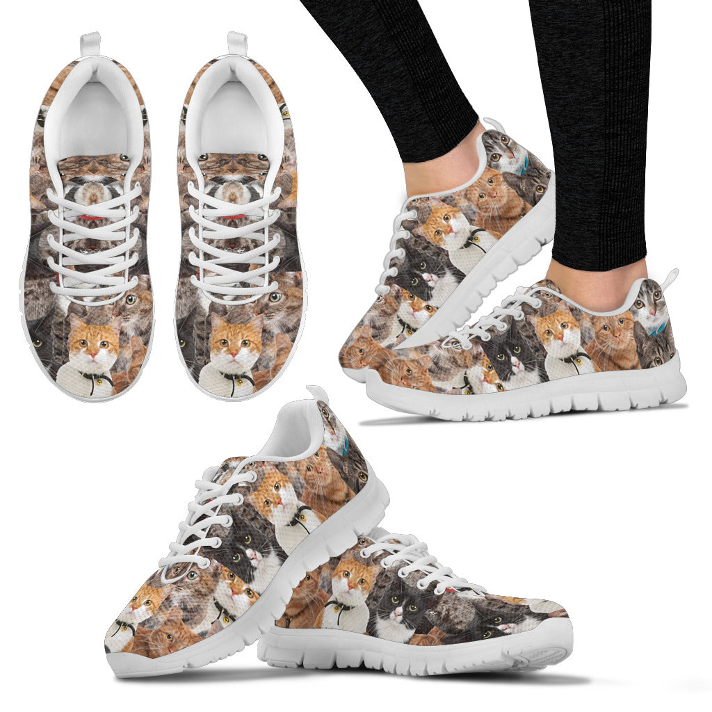 Cute Cat  Shoes Ladies Sneakers