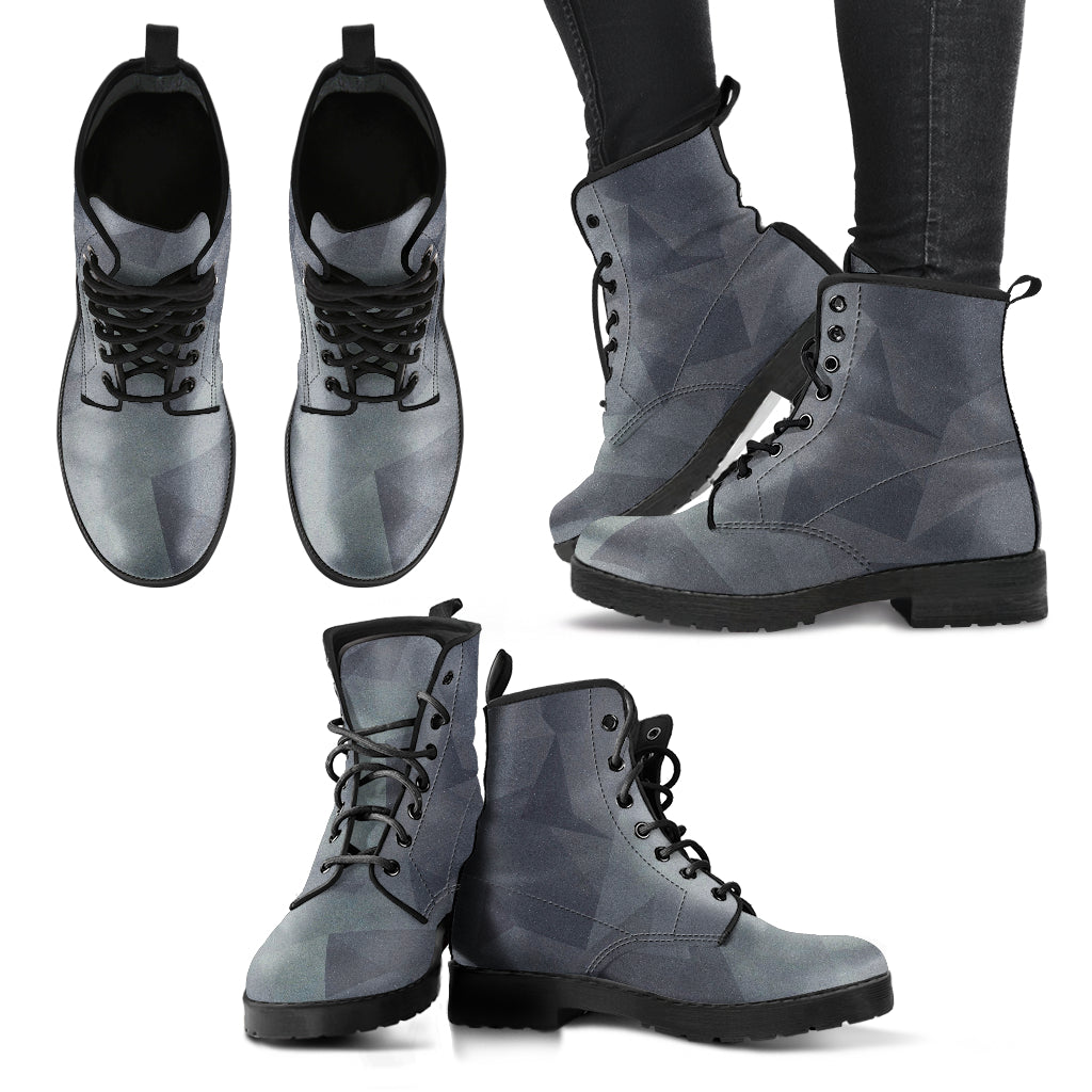 Black and Grey Boots
