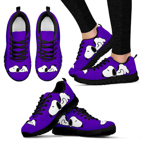 Snoopy Purple Shoes Women's Sneakers for Womens