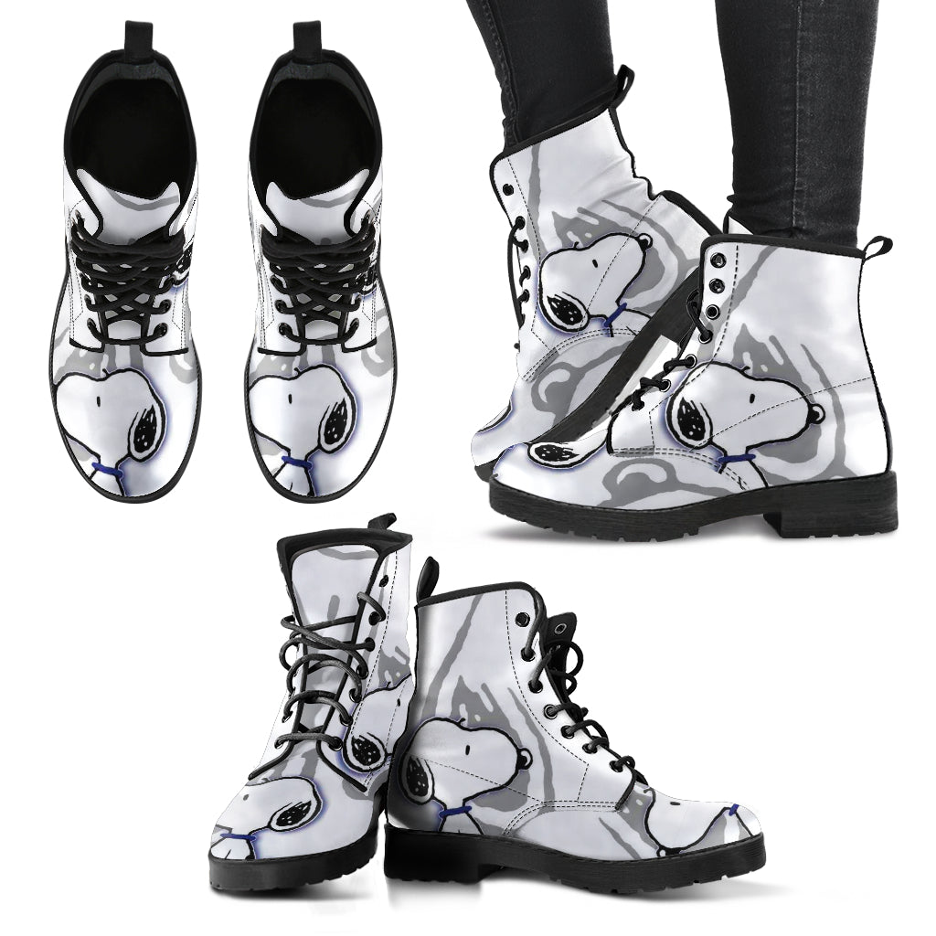 Snoopy Boots Peanuts Women's Leather Boots Snoopy Adult Boots