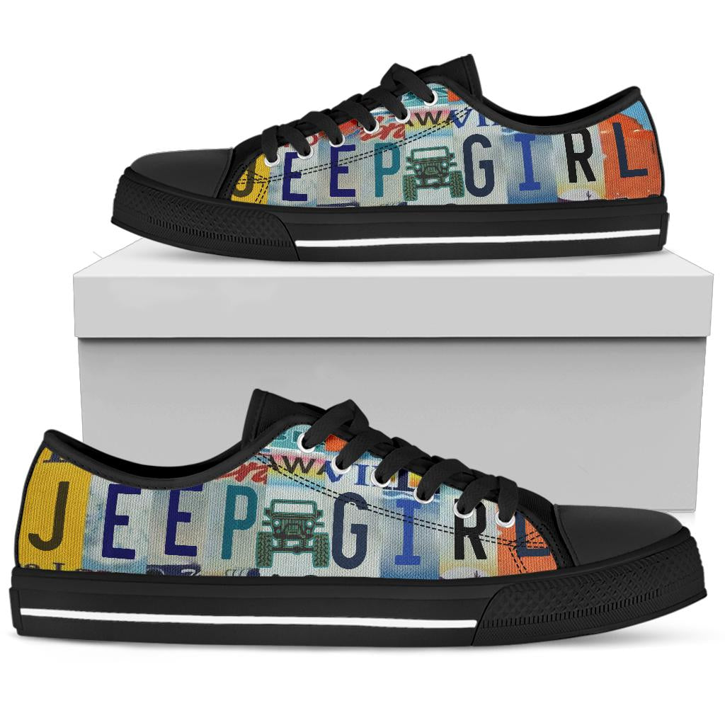Jeep Girl Low Top Shoes License Plate Sneakers For Women