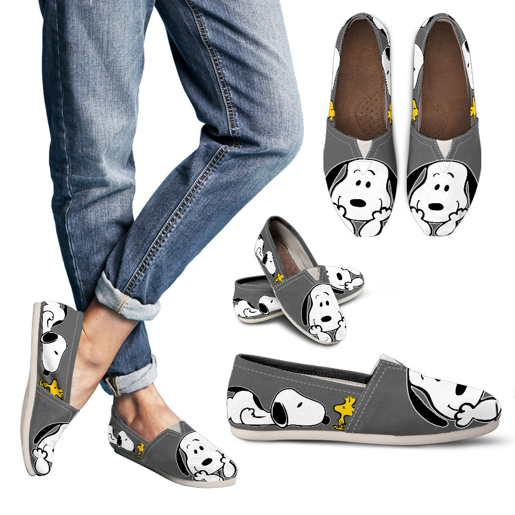 Grey Snoopy Shoes Women's Casual Shoes