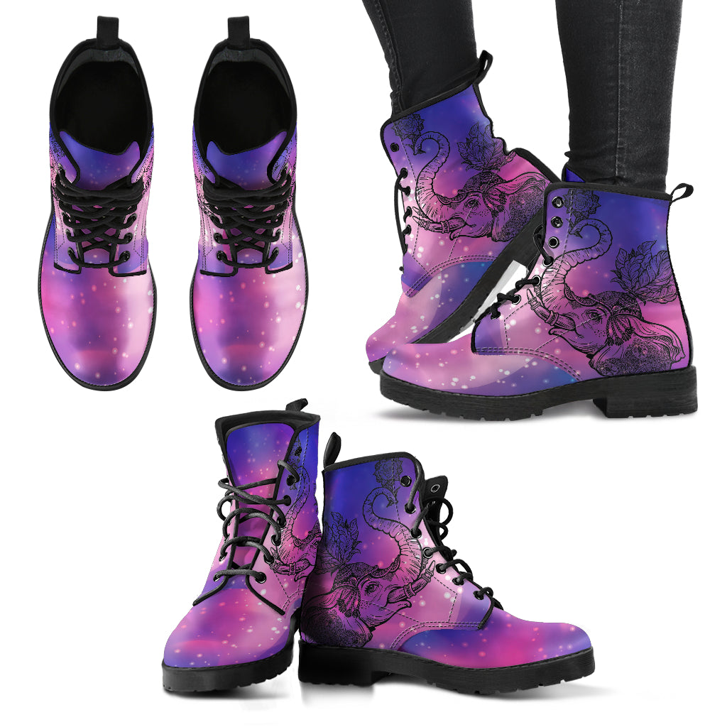 Elephant Boots Purple Women's Leather Boots