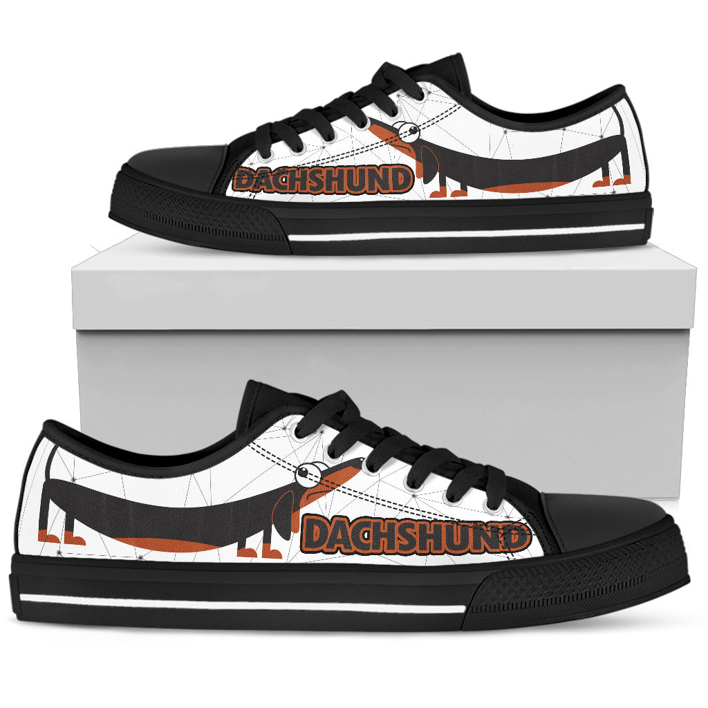 Dachshund Shoes Women's Low Top Shoe