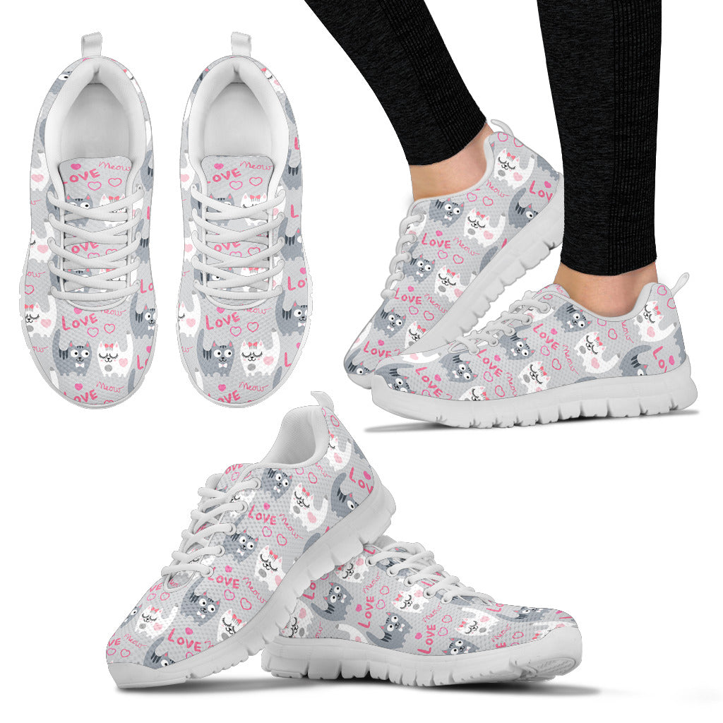 Love Meow Cat Shoes Women's Sneakers