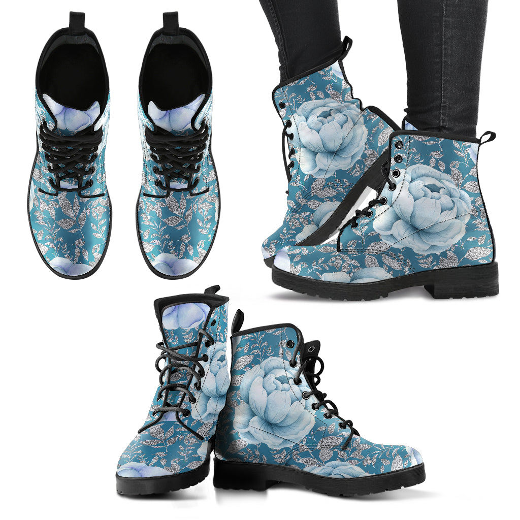 Winter Flower Boots Women's Leather Boots