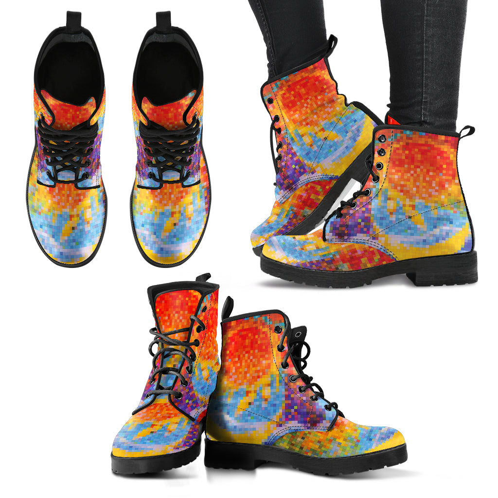 Mosaic Sun and Moon Boots Women's Leather Boots