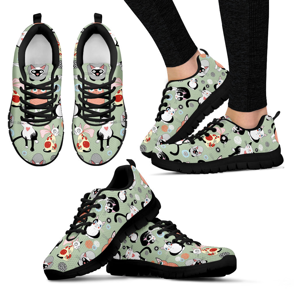 Sweet Happy Cats Women's Sneakers